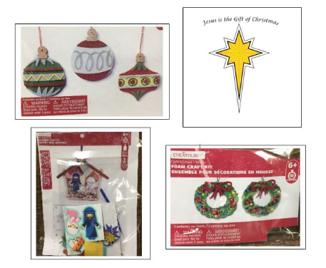 Kids crafts collage xmas